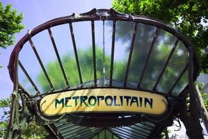 Hector Guimard was commissioned to redesign Parisian metro stations.