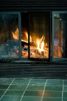 Ceramic tile is an inexpensive and versatile option for your fireplace surround.