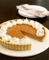 Pumpkin pie uses a distinctive mixture of warm spices.