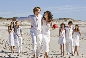 Even formal beach weddings have casual elements.