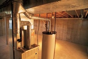The indoor air conditioning unit contains a blower motor.