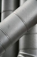 Galvanized metal contains a thin coating of zinc.