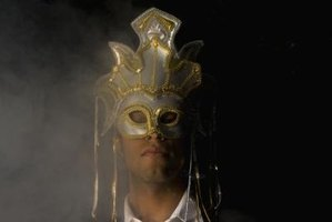 Masks are often the focal point of a masquerade costume.