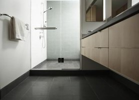 Using nonslip floor tile is especially important for a bathroom.