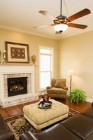 Ceiling fans with a light kit add bright overhead lighting to a room.