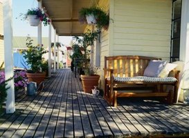 Wood decks provide an inviting, natural surface, but they weather quickly.