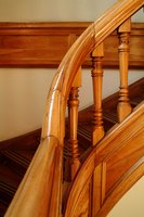 Railings accent the style of the home and accommodate the needs of family members.