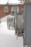 Hide an unsightly electric meter.