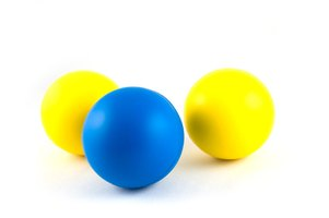 Plastic balls can be made at home as a safe and enjoyable family activity.