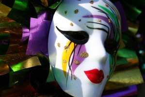 Mardi Gras observances often include masked celebrants.