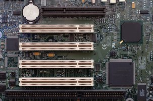 motherboard with processor, north bridge, south bridge, processor and memory slots