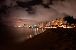 Waikiki Beach is beautiful at any hour of the day.