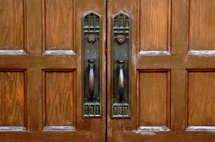 Weathered oak doors can be restored.