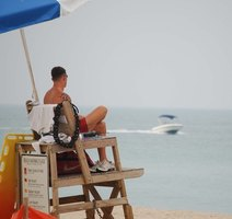 Lifeguarding on a public beach is just one of the many government jobs available to teenagers.