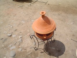 The popular North-African tajine is a baking dish that has a thin, tapered chimney at the top to release steam.