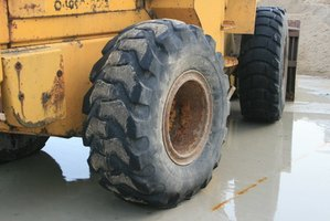 Large truck tires like these make the best troughs.