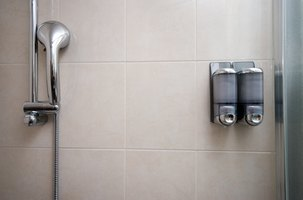 Fiberglass showers are easier to keep clean than tiled walls.