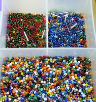 Stringing seed beads can keep the beads organized or it can be the beginning of many projects.