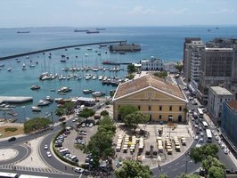 Brazil is the fifth largest country in the world. This is the Old Market in Salvador de Bahia.