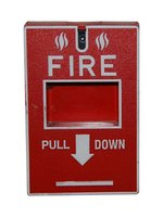 A manual fire alarm.