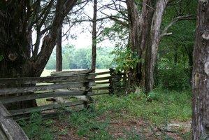 The split rail fence was among the first styles of log fencing.