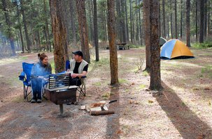 Camping is one of several low-cost weekend vacation options.