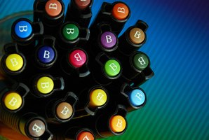 Copic markers come in a variety of colors and will not wash away.