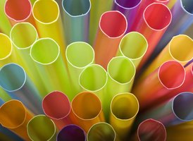 Make a loom out of drinking straws.