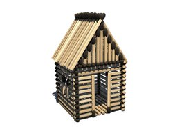 Your house made of sticks can be as simple or elaborate as you choose.