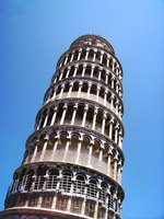 Kids can create the Leaning Tower of Pisa out of varying materials.