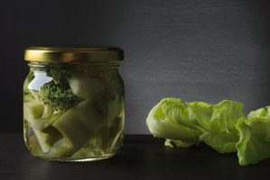 Can your leftover or harvested vegetables in a mason jar to refrigerate or freeze.