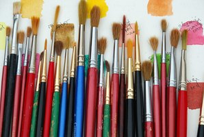Paint brushes are available in a wide variety of sizes. Choose yours accordingly.