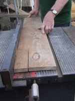 Its easy to straight-edge on a table saw.