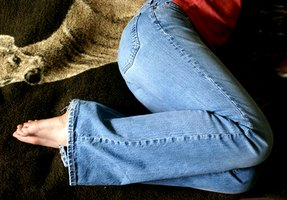 Make capris out of an old pair of jeans.