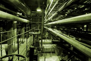 Industrial chillers require long runs of insulated piping.