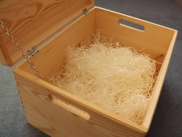 A wooden box needs a lid to keep your belongings secure.