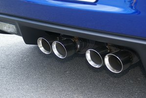 Car exhaust fumes contain carbon monoxide.