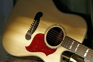 The pickguard protects the guitar from strumming damage.