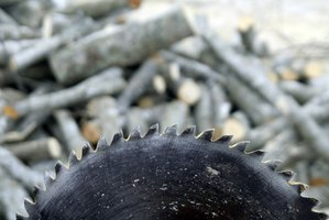 A sharp, circular blade, is the cutting feature on a table saw.