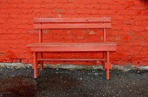 A bench can blend in with its environment or show off some big personality with the right paint job.