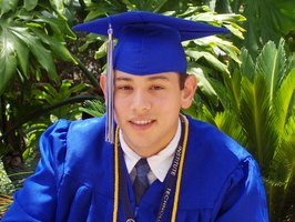 An 18-year-old may be graduating high school soon. Mention your pride in his achievements.