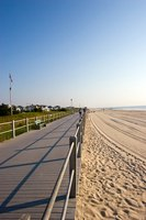 The New Jersey shore has many public and private beaches.