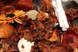 Dead flower arrangements can be recycled into potpourri.