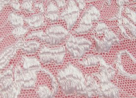 Lace fabric makes a lovely overlay for dresses and other garments.