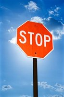 A stop sign is a traffic safety item, but can also be used as a teaching tool.