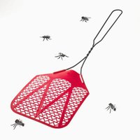 Fly swatters are effective for keeping bugs away from your front door.