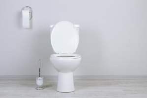 A clean toilet is free of any mold or mildew.