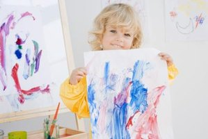 Painting gives toddlers a sense of achievement.