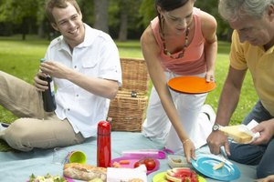 Potluck picnics give guests from different backgrounds the chance to become acquainted.