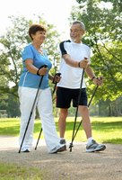 Walking with poles is a low-impact activity that is good for your heart, lungs and muscles.